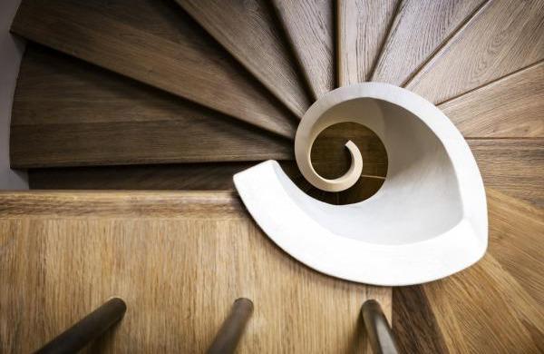 lemma scala chiocciola legno rovere