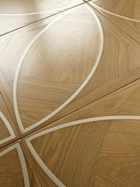 lemma parquet intarsiato legno acciaio